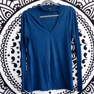 Express V Neck Long Sleeve